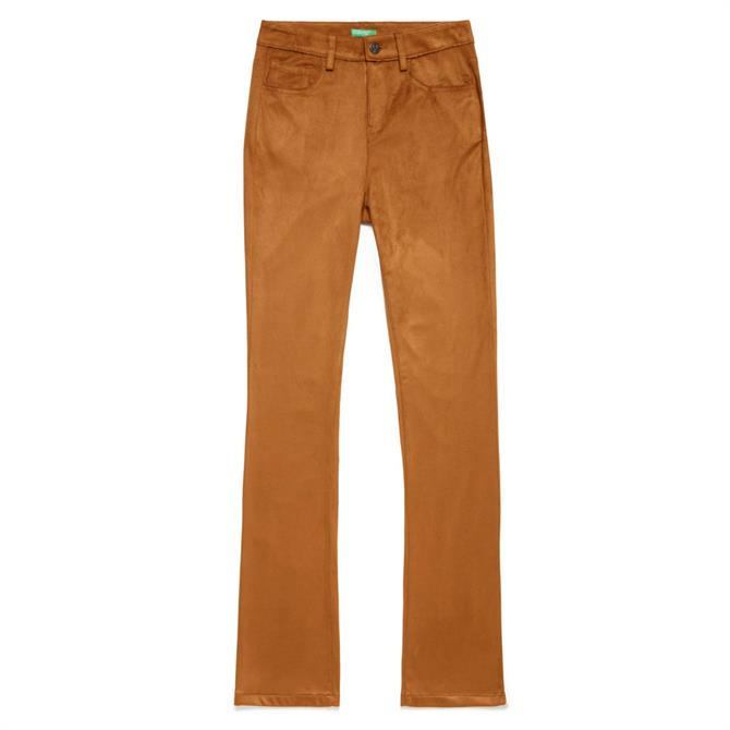 United Colors of Benetton Faux Suede Flared Trousers