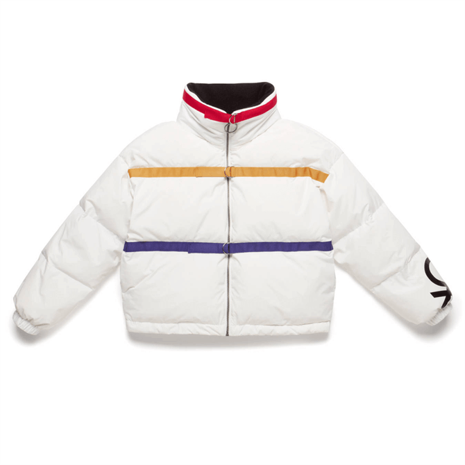 United Colors of Benetton Ribbon & Logo Down Jacket