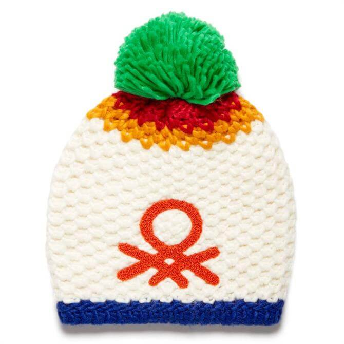 United Colors of Benetton Tricot Knit Logo Hat