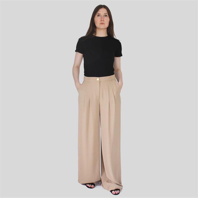 United Colors of Benetton Crepe Wide Leg Trousers