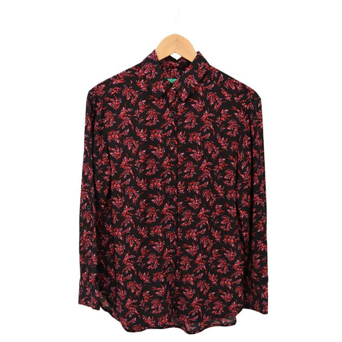 United Colors of Benetton Flowy Long Sleeve Printed Shirt