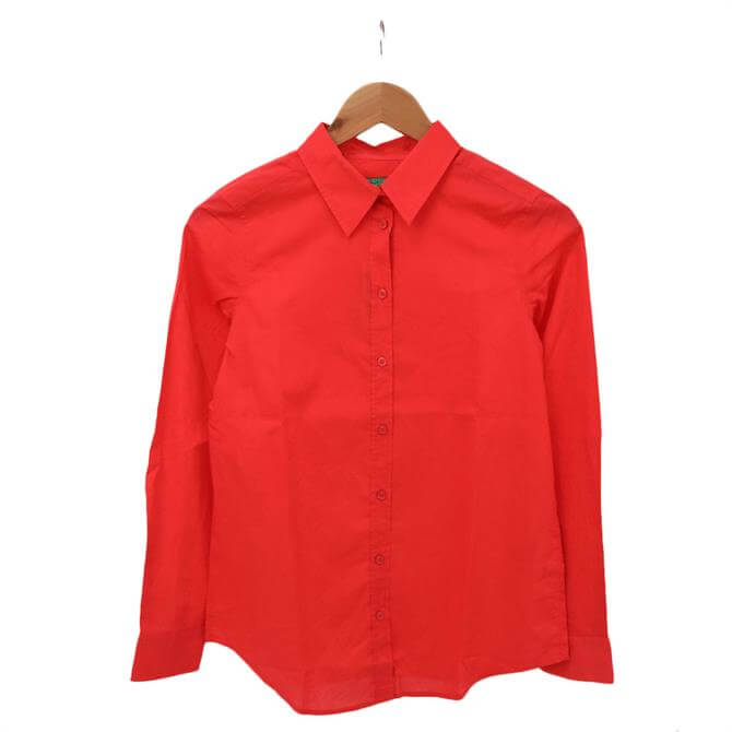 United Colors of Benetton Long Sleeve Cotton Shirt