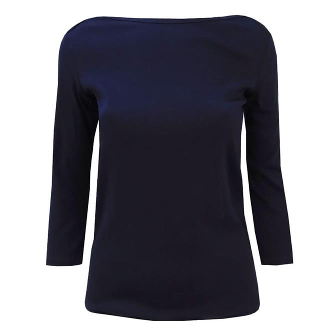 United Colors of Benetton Boat Neck 3/4 Sleeve T-Shirt