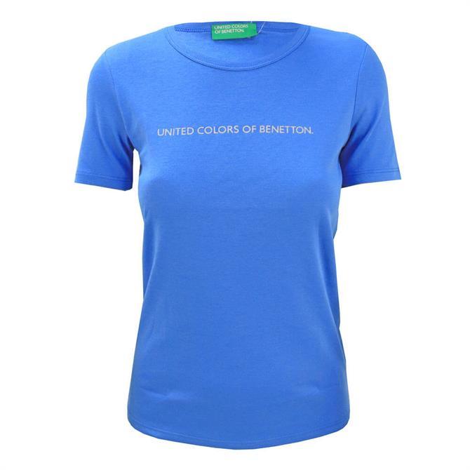 United Colors of Benetton Glitter Logo Cotton T-Shirt
