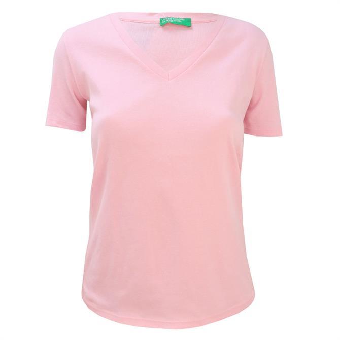 United Colors of Benetton Short Sleeve V-Neck T-Shirt