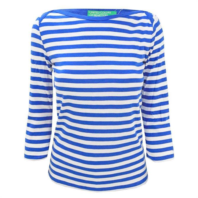 United Colors of Benetton Striped 3/4 Sleeve T-Shirt