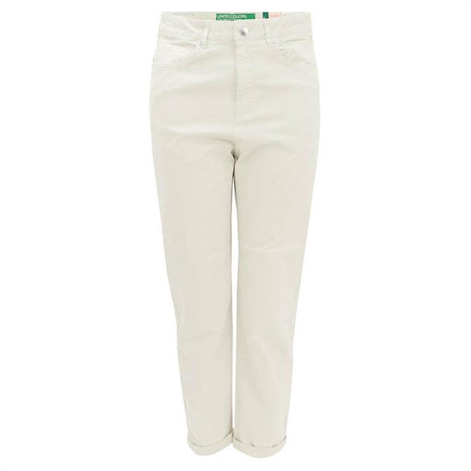United Colors of Benetton Stretch Cotton Boyfriend Trousers
