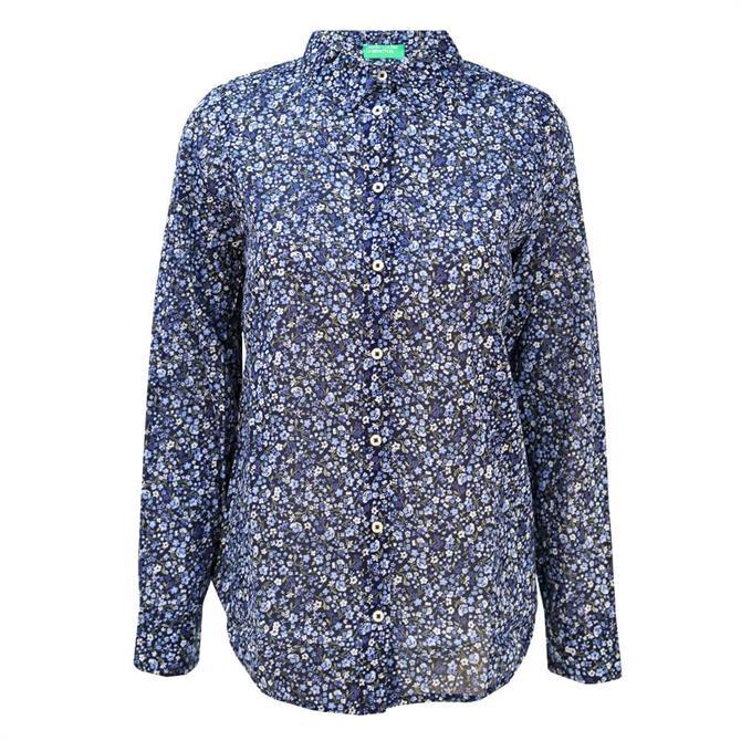 United Colors of Benetton Floral Print Pure Cotton Shirt