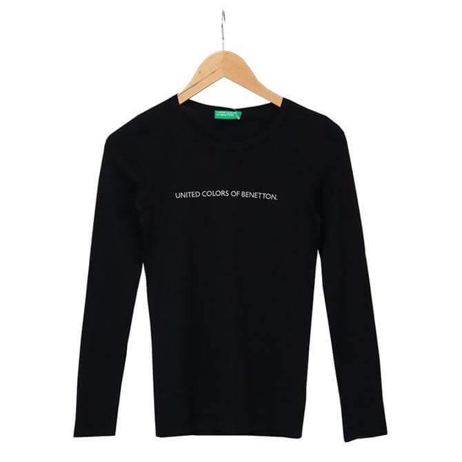 United Colors of Benetton Logo Long Sleeved T-Shirt