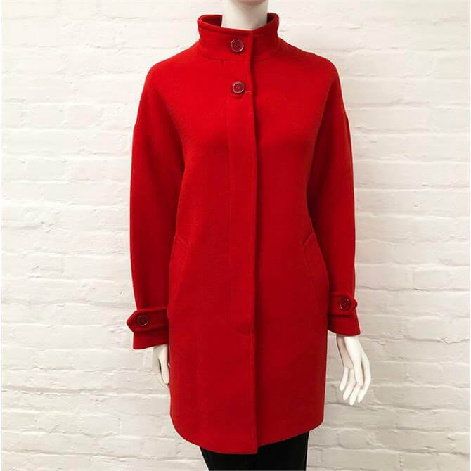 United Colors of Benetton Red Car Coat