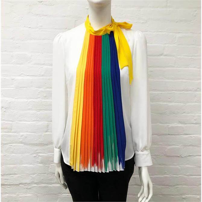 United Colors of Benetton Rainbow White Blouse