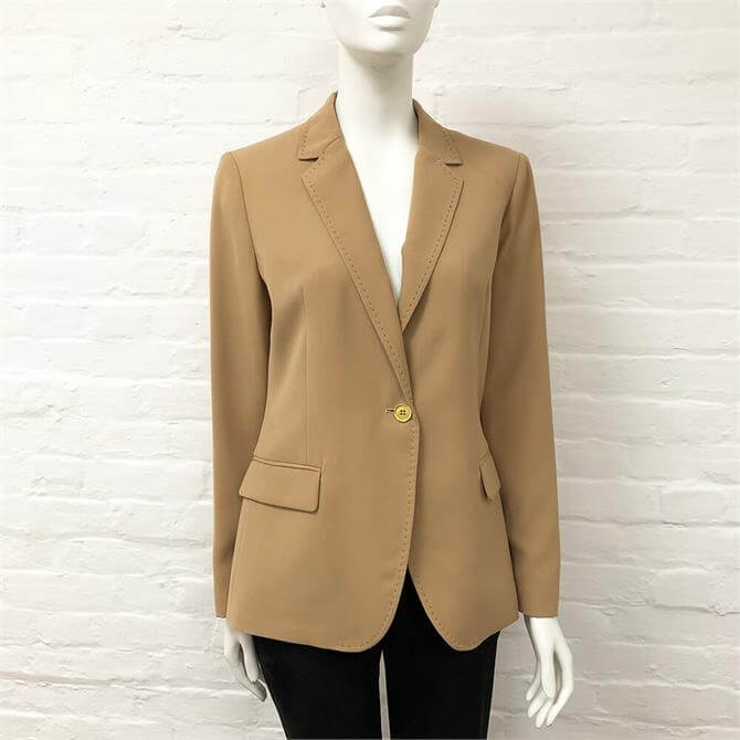 United Colors of Benetton Crepe Camel Jacket