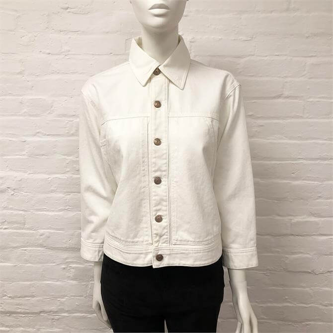 United Colors of Benetton White Denim Jacket