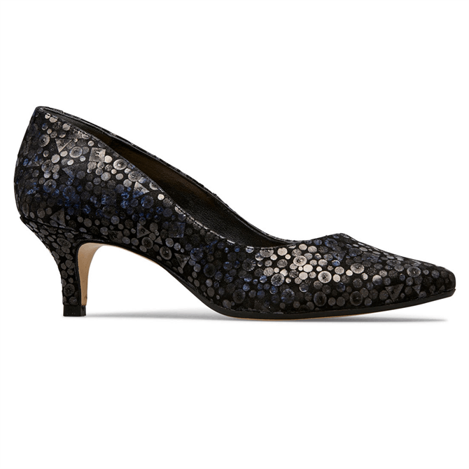 Van Dal Nina Black Sequin Court Shoes
