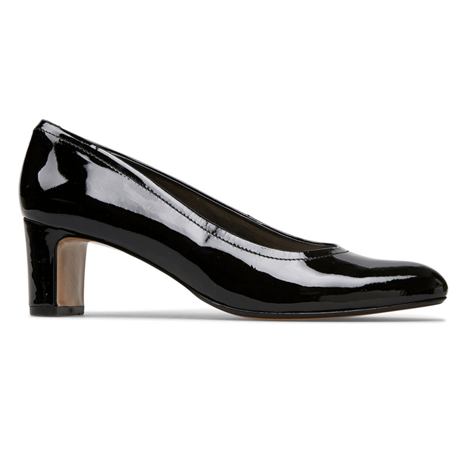 Van Dal Lorne Black Patent Court Shoes