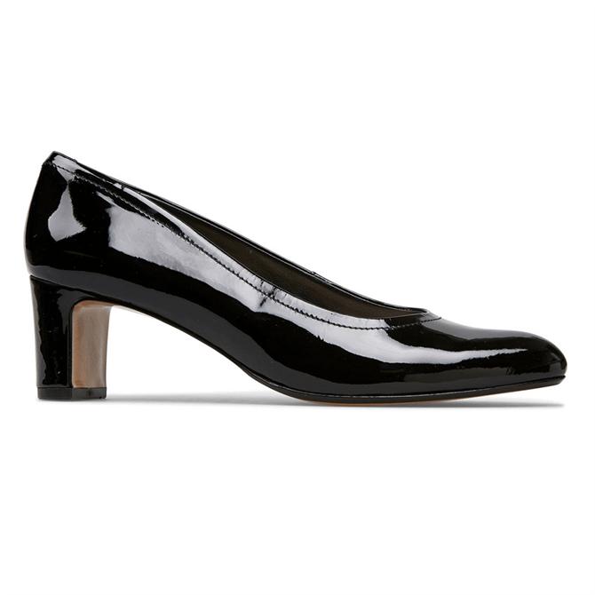 Van Dal Lorne Black Patent Court Shoes