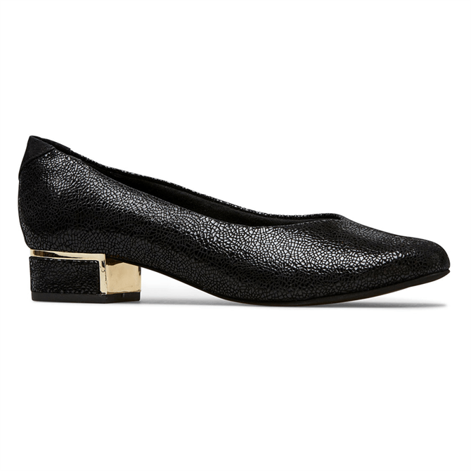 Van Dal Reece Black Crackle Shoes