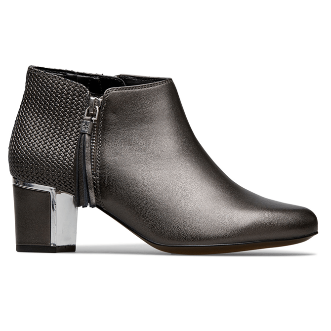 Van Dal Arial Anthracite Emboss Ankle Boots