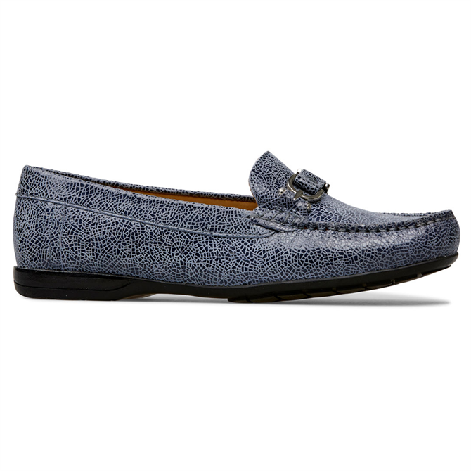 Van Dal Bliss Antique Blue Crackle Loafers