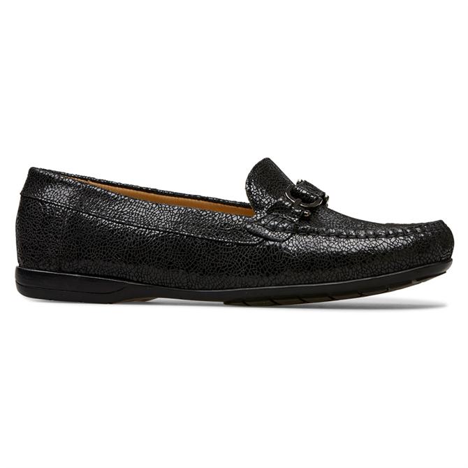 Van Dal Bliss Black Crackle Loafers