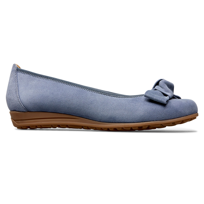 Van Dal Canning Antique Blue Suede Ballerina Pumps