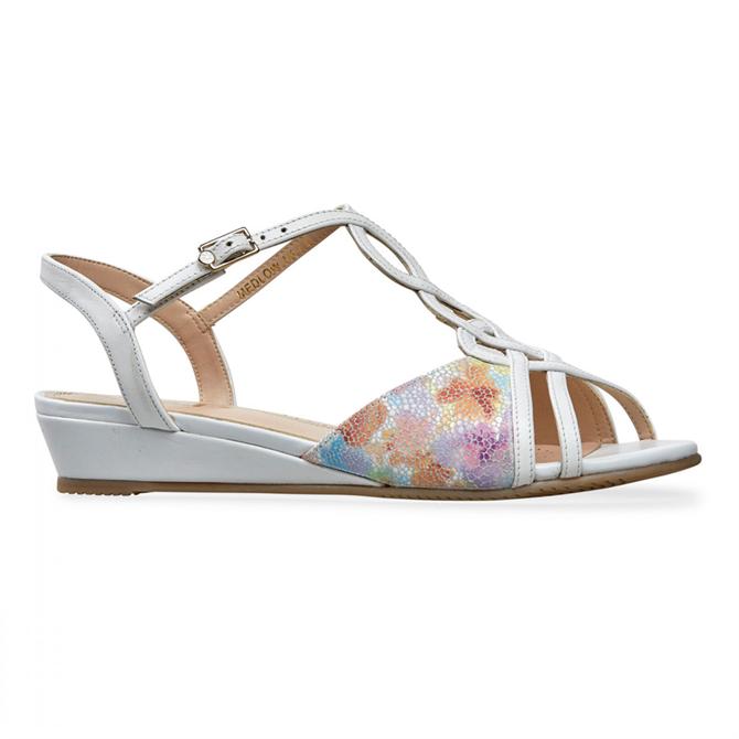 Van Dal Medlow Meadow White Sandals