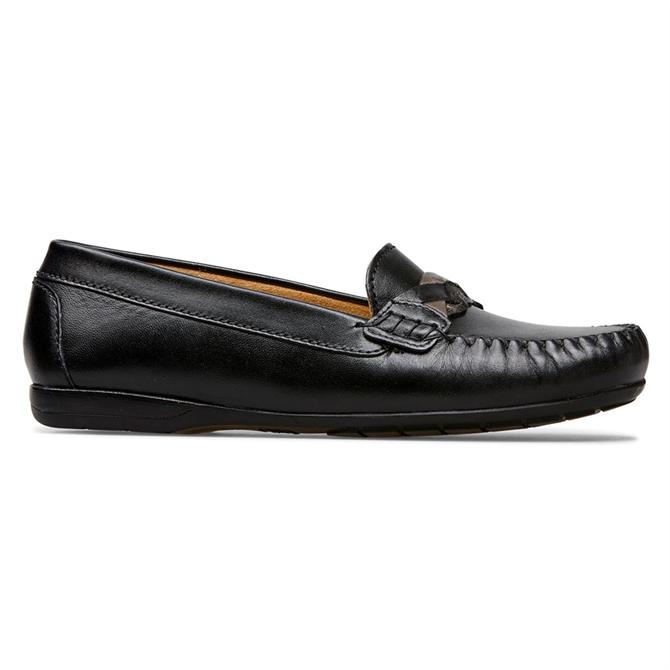 Van Dal Minni Black Leather Loafers