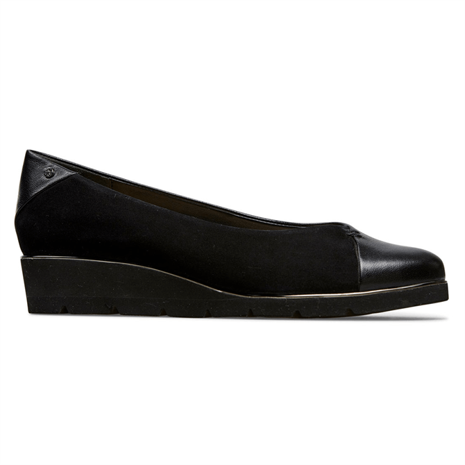 Van Dal Munro Black Suede Leather Ballerina Pumps