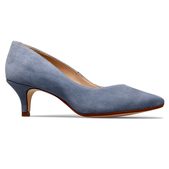 Van Dal Nina Antique Blue Suede Court Shoes