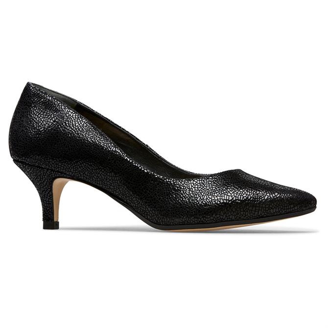Van Dal Nina Black Crackle Court Shoes