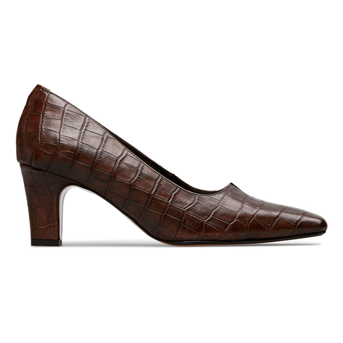 Van Dal Ophelia Conker Croc Court Shoes