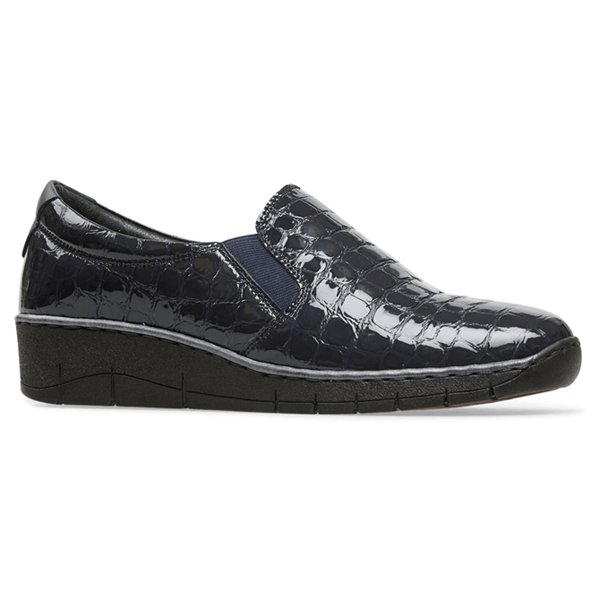 Van Dal Ripple Midnight Patent Croc Shoes