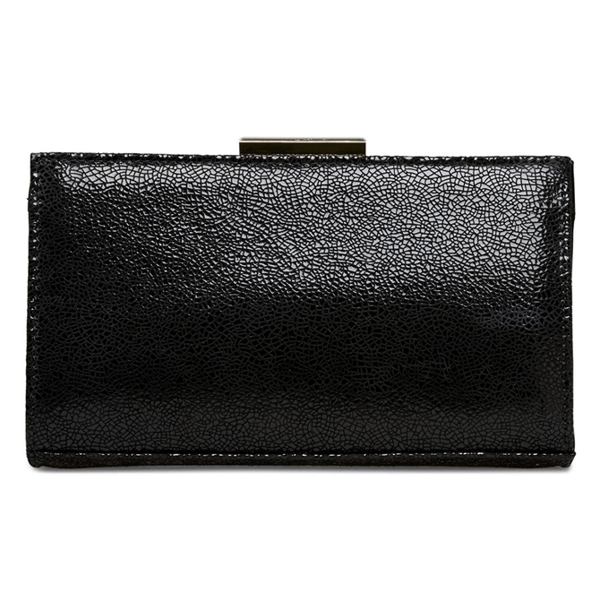 Van Dal Zinnia Black Crackle Print Clutch Bag