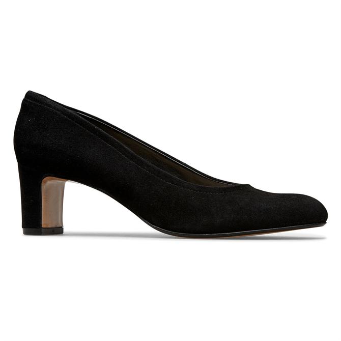 Van Dal Lorne Black Suede Court Shoes