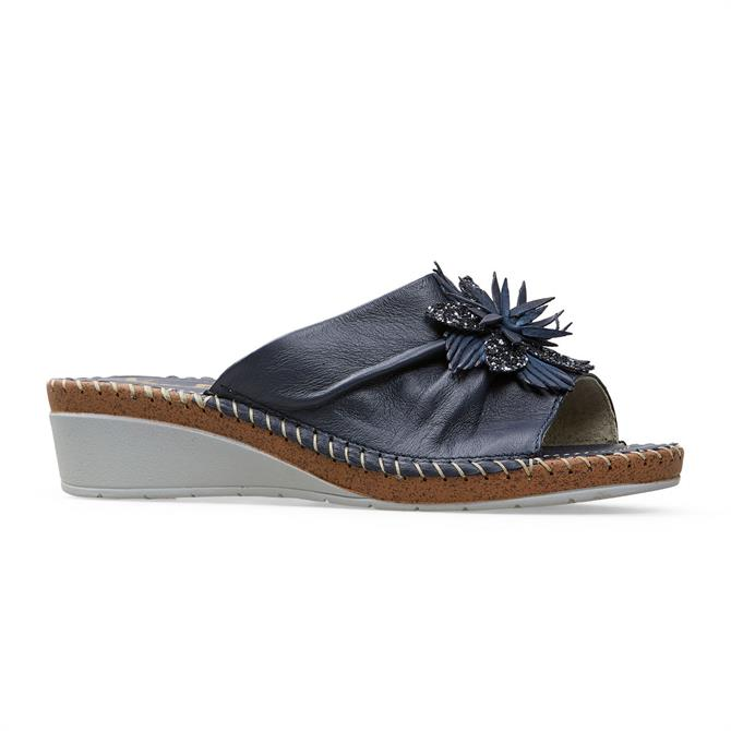 Van Dal Banks Navy Leather Wedge Shoes