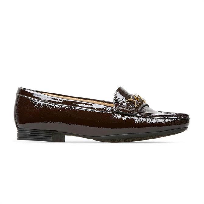 Van Dal Barnham X Damson Red Crinkle Patent Loafers
