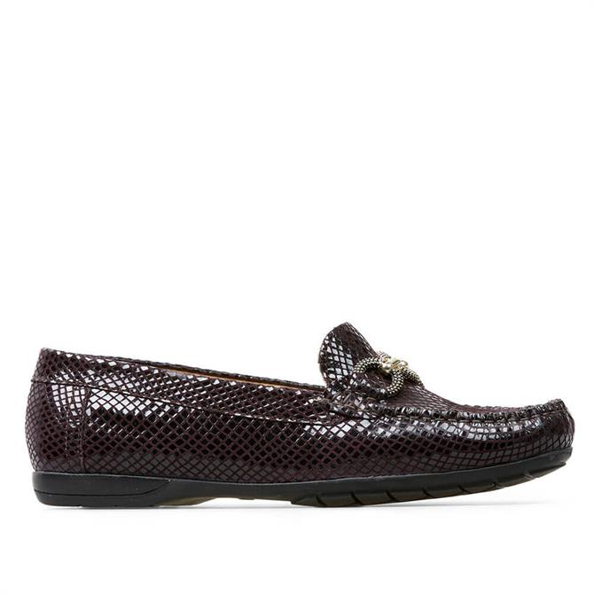 Van Dal Bliss II Damson Leather Loafers