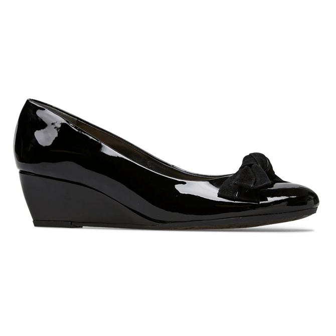 Van Dal Bourne Black Patent Wedge Shoes