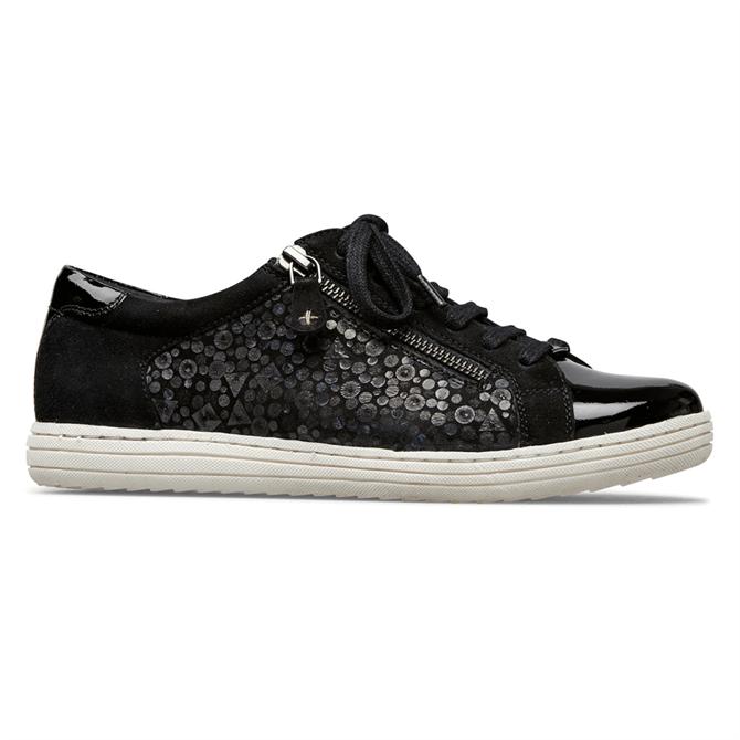 Van Dal Detroit Black Patent Suede Sneakers