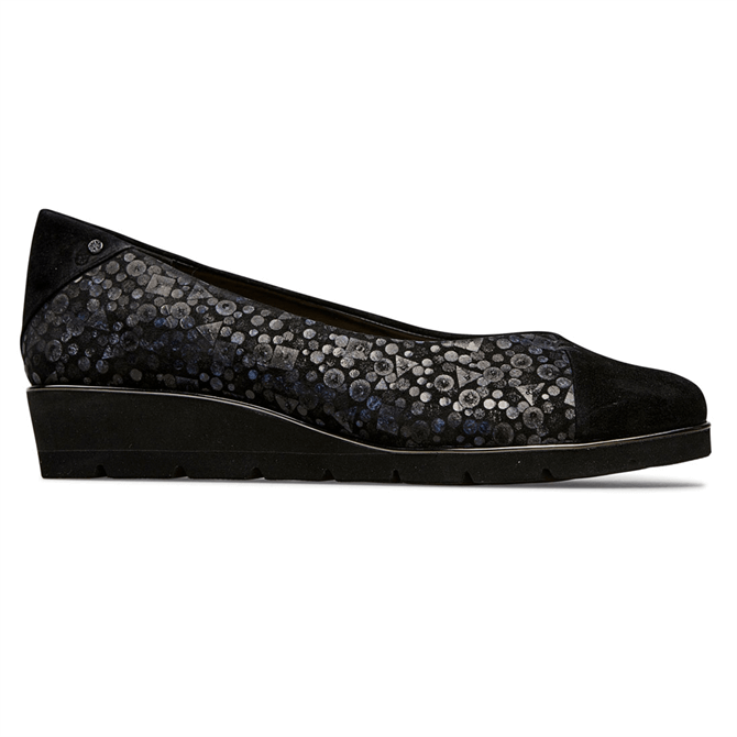 Van Dal Munro Black Sequin Ballerina Pumps