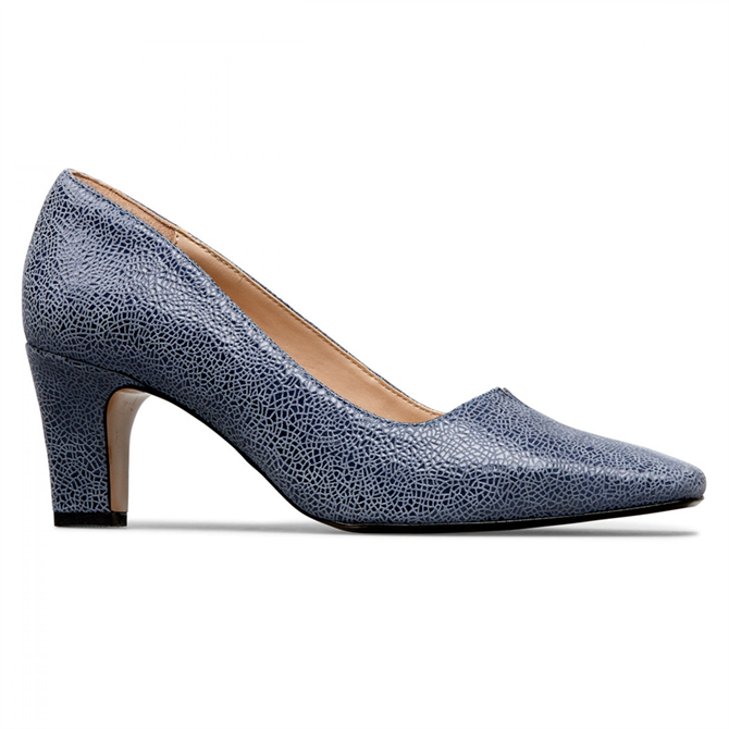 Van Dal Ophelia Antique Blue Crackle Court Shoes