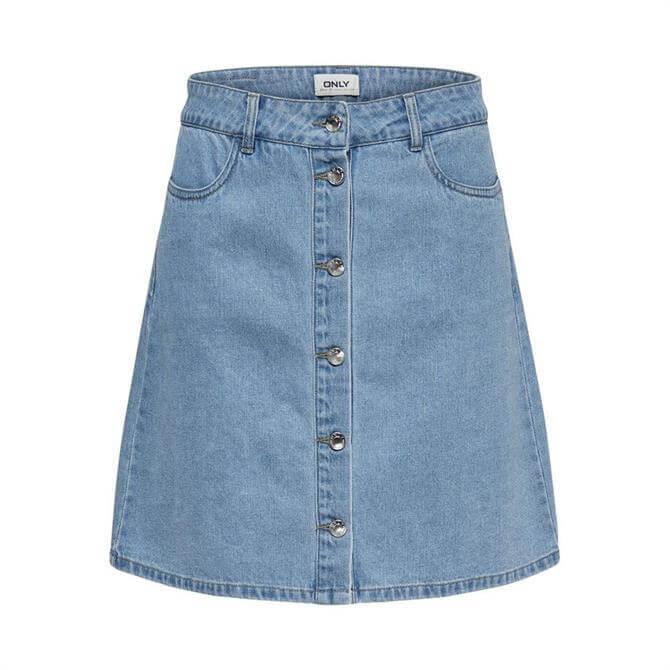 Only Button Denim Skirt
