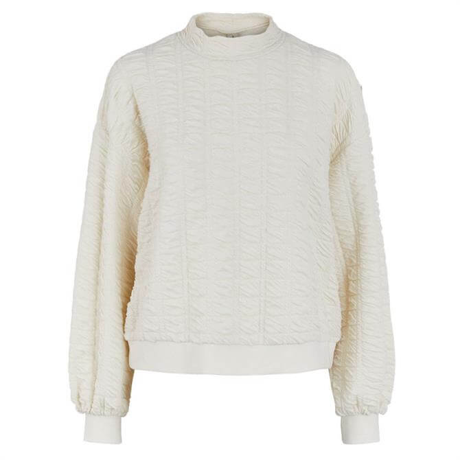 Pieces Retti Textured High Neck Sweater