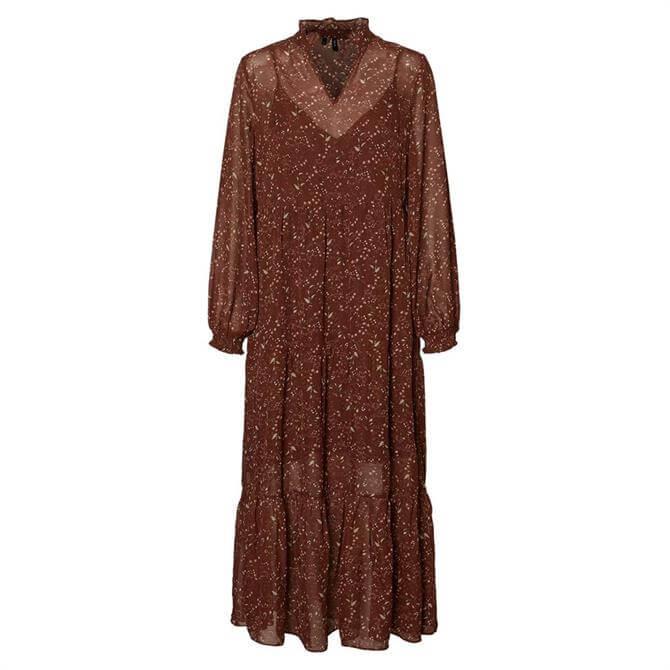 Vero Moda Alba Ditsy Floral Print Maxi Dress