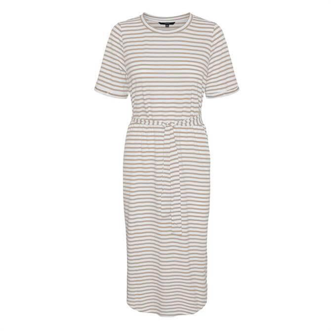 Vero Moda Alona Striped Midi Dress