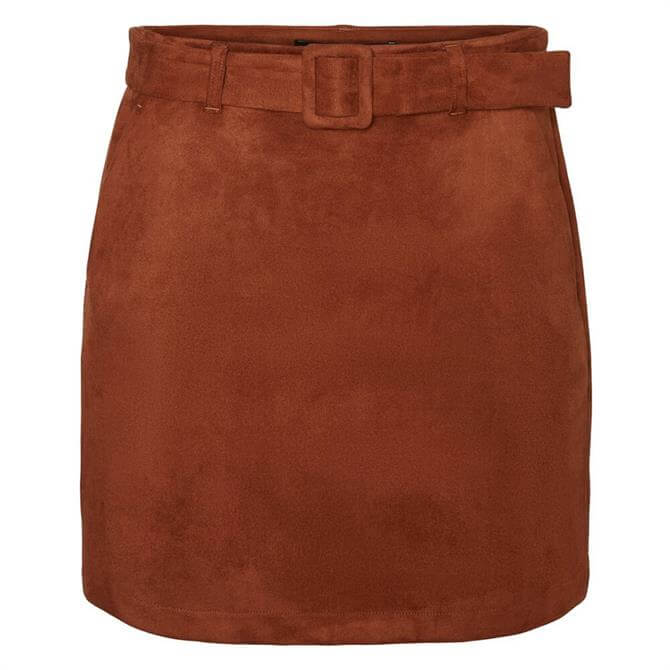 Vero Moda Chili Faux Suede Buckle Skirt