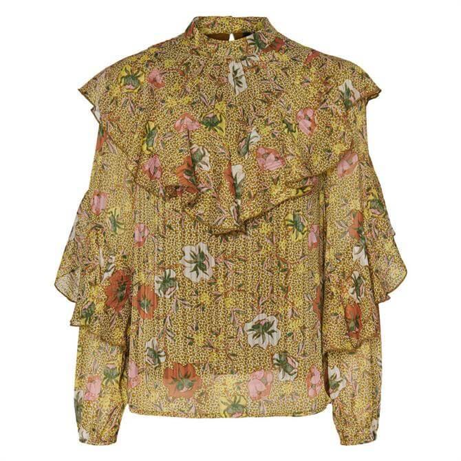 Vero Moda Cille Floral Ruffle Blouse
