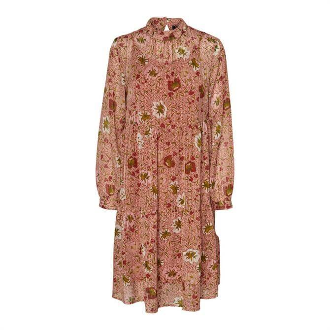 Vero Moda Cille Floral Print Smock Dress