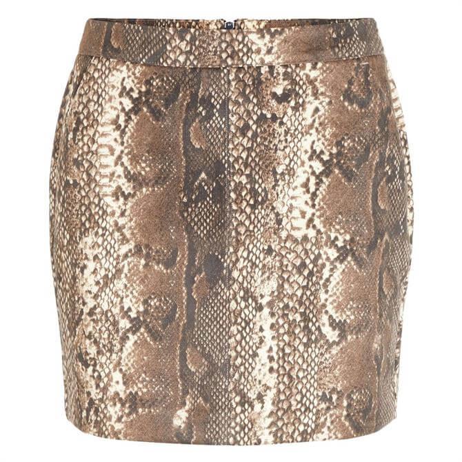 Vero Moda Donna Snake Print Skirt