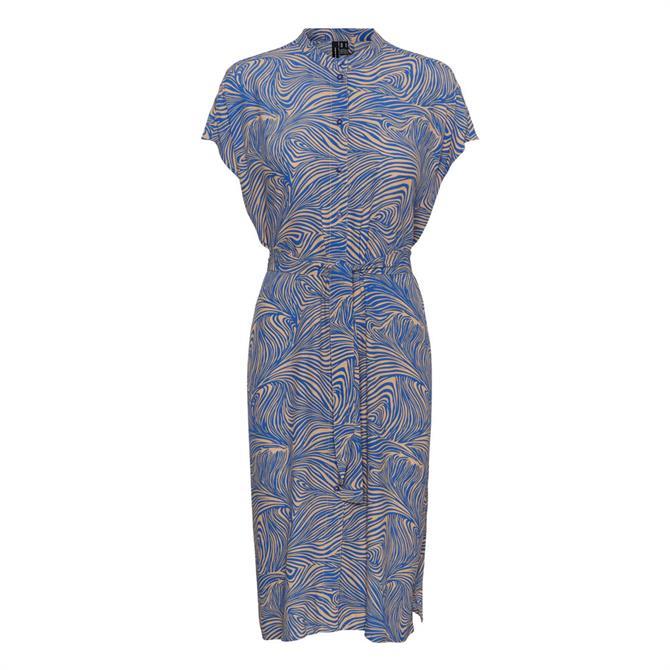 Vero Moda Gea Printed Midi Shirt Dress